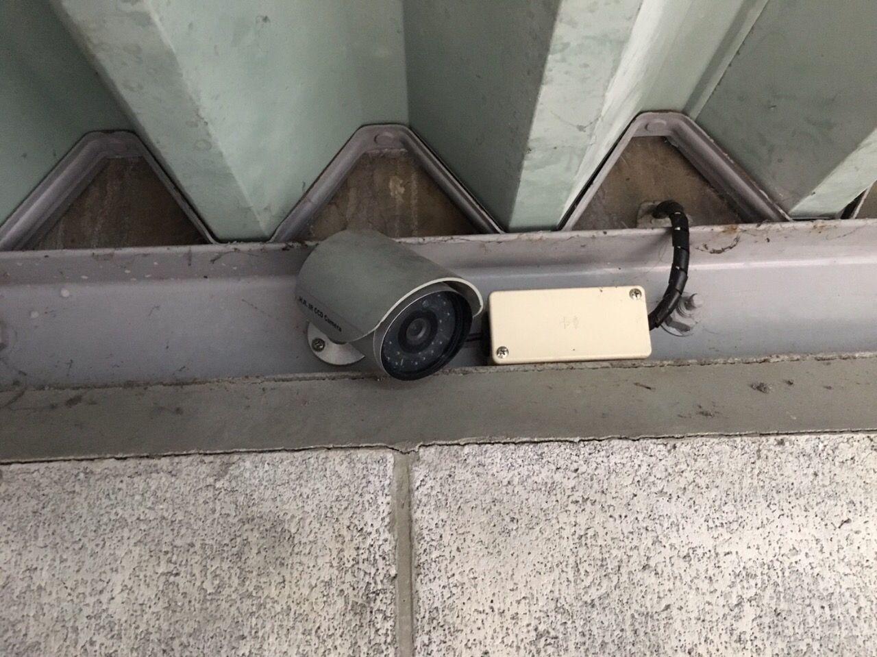 カメラがあるのを知らずに!